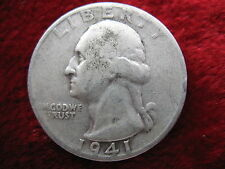 1941-S Washington Silver Quarter Dollar, ORIGINAL COIN! Free World Shipping!