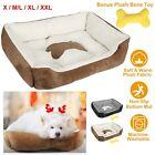 LARGE Pet Calming Bed Dog Cat Sleeping Kennel Puppy Super Soft Mat Pad Warm Nest
