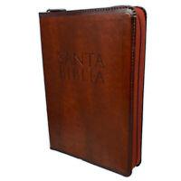 Biblia Letra Grande con Cierre Reina Valera 1960 imitacion piel cafe con indice