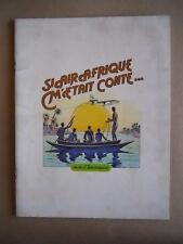 BOOK Pubblicitario Fumetto francese AIR AFRIQUE anni 70-80  [D32] BUONO