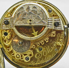 A VERY COLLECTABLE Verge Fusee PW With A FAUX PENDULUM Circa 1770-Just Serviced!