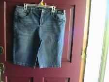 WOMEN'S NWTS NEW YORK & CO BLUE DENIM 5 POCKET BERMUDA SHORTS SZ 16