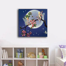 70×70×3cm Moon Angel Framed Canvas Prints Wall Art Home Decor Painting Gift