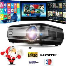12000 Lumen Heimkino Projektor Beamer FHD 1080P Media Projektor HDMI VGA USB Xw