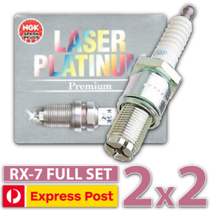 4 x NGK Laser Platinum Spark Plugs for Mazda RX-7 FC FD 1.3L 13BT 13BREW Rotary