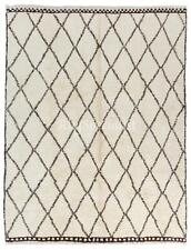 Contemporary Berber Moroccan Azilal Rug Made of Natural Undyed Wool