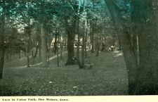 Des Moines, IA  A View in Union Park 1915