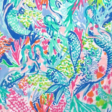 Lilly Pulitzer Mermaids Cove Cotton Poplin Fabric