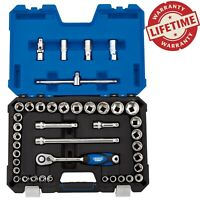 Draper Expert 1/2 inch 41pc Socket Set with Wobble Extensions 8 to 32mm Sockets
