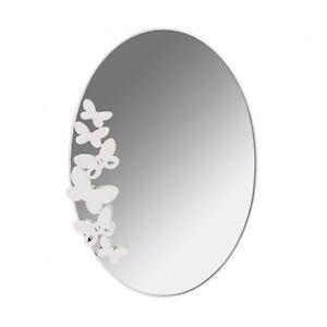 Specchio da parete Butterfly Ovale design italiano Arti e Mestieri 2463 55X78Hcm