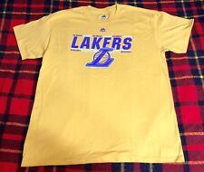 Mens Los Angeles Lakers Majestic NBA T-shirt Sz L