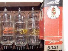 3 PIECES TYPE 50A1 BALLAST NOS TUBES ZENITH / SYLVANIA * EXCELLENT SHAPE * TRIO
