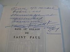 CDT BERNARD FRANK SILLAGE ST-PAUL 1961MARINE Illustré ENVOI Signé à MICHEL DEBRE