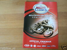 B 2005 THE BIKERS CLASSICS SPA-FRANCORCHAMPS PROGRAMME