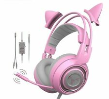 Girl Headphone Gaming 3.5mm Plug Cute Headset One PS4 Phone Pad For PC Xbox