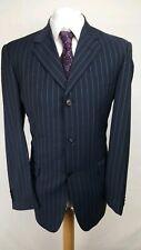 Cerruti 1881 Mens Suit, Blue Striped, Wool Blend, Chest 40, Trousers 34, GC