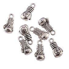 Boxing gloves Tibetan Silver Bead 3D charms Pendants fit bracelet 10pcs 20x10mm