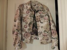 Caribbean Joe Multi-Color Tapestry Jacket Ladies Large