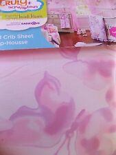 New Heidi Klum Truly Scrumptious Pink Butterfly Wonderland Crib Sheet