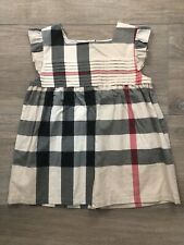 Girls Burberry Plaid Top Blouse Shirt Sleeveless 14