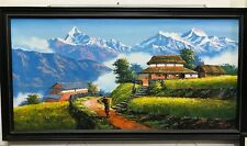 MOUNT ANNAPURNA IV FISHTAIL ORIGINAL KNIFE PAINTINGS WITH ACRYLICS IN CANVAS