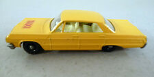 Impala Taxi - Yellow with Ivory Interior -- NM+ -- MB 20C -- 1965 -- Matchbox