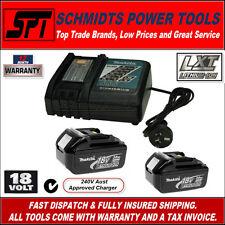 Genuine Makita LXT 18v Li-ion Battery and Charger Combo 3amp Batteries Kit