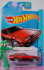 Case F 2014 Hot Wheels '81 DELOREAN DMC-12 1981 US #33∞New RED∞Speed Team