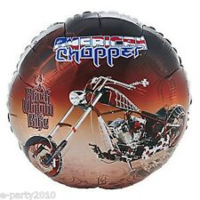 AMERICAN CHOPPER Black Widow Bike foil MYLAR BALLOON ~ Birthday Party Supplies