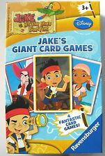JAKE AND THE NEVERLAND PIRATES GIANT CARD GAMES BY RAVENSBURGER - NEW & SEALED!