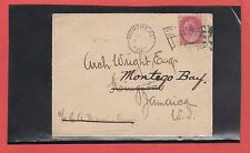 Canada to JAMAICA 1902 receivers, Montreal flag Numeral issue cover