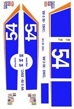 #54 Lennie Pond W-I-N inc BLUE 1/24th - 1/25th Scale Waterslide Decals Custom la