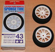 Tamiya 53744 Motor Glow Frontal Esponja tyres/tires 43 (26 mm de ancho, 1 par), Nuevo En Caja