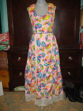 Beautiful Vintage TINA LESER Multi Color Butterfly Dress w/Matching Shawl