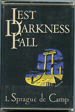 Fiction: LEST DARKNESS FALL by L Sprague de Camp. 1949. Signed.