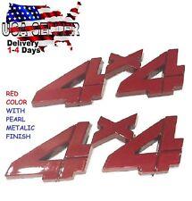 X2 Pieces RED 4 X 4 EMBLEM 4X4 Car Truck old OPEL AMC PEERLESS Logo SIGN Badge