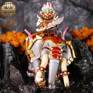 ⎡LEYILE BRICK⎦Pre-order Custom Printed Three Kingdoms Meng Huo Genuine Figure