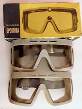 Vintage Sportura box 2 pair Googles motorcycle safety aviation German rare