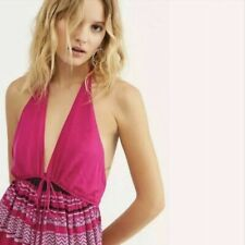 Free People Palm Beach Halter One Piece Jumpsuit Overall XSmall XS New