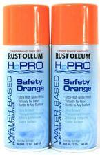 2 Rust-Oleum 12 Oz H2Pro 331550 Safety Orange Water Based Rust Preventive Spray