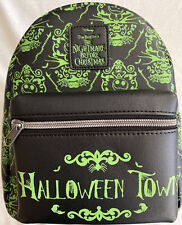 Loungefly Disney Nightmare Before Christmas Mini Backpack Glow In The Dark! NWT!