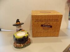 """Avon """"The Original S'mores"""" Spooky Tealight Midwest of Cannon Falls Nib"""
