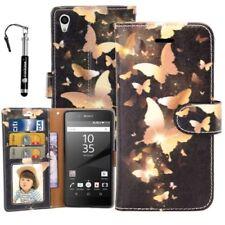 Fundas y carcasas color principal oro de piel para teléfonos móviles y PDAs Sony
