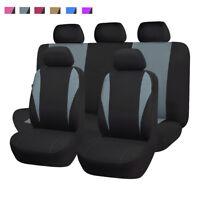 Car Seat Covers Front Rear Full Set Washable Sedan Gray Easy Installation