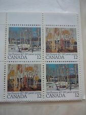CANADA 1977 12c x16 Cent. of Tom Thomson Inscription blocks of 4 Unopened SG 887