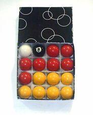 """REDS & YELLOWS 1 1/2"""" POOL BALLS"""