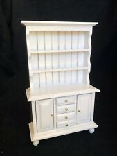 Dolls House 1/12 White Dresser Miniature Kitchen Dining Room Furniture M335