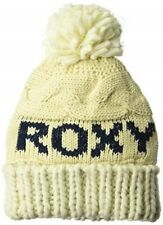 NWT WOMENS ROXY SNOW CHUNKY KNIT TONIC ANGORA LOGO POM BEANIE WINTER HAT CAP NEW