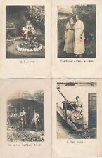Nr.19419 4x Privat Foto PK schöne Frauen + Männer  um 1914
