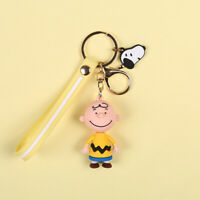 Cute 3D Charlie Brown Doll Keychain Key Chain Keyring Car Bag Charm Gift